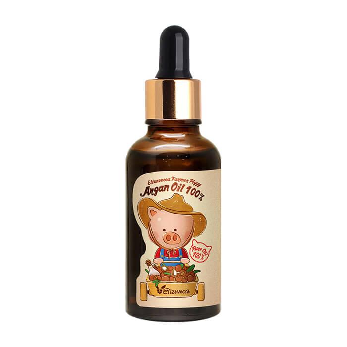 Купить Масло арганы Elizavecca Farmer Piggy Argan Oil 100% (30 мл), 100% натуральное универсальное аргановое масло для ухода за кожей и волосами, Южная Корея