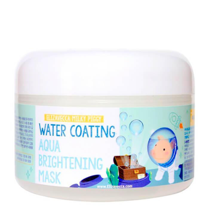 Купить Ночная маска Elizavecca Water Coating Aqua Brightening Mask, Глубоко увлажняющая ночная маска с эффектом сияния кожи лица, Южная Корея