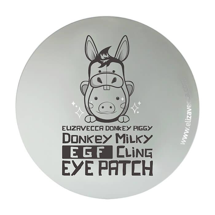 Патчи для глаз Elizavecca Donkey Piggy Donkey Milky EGF Cling Eye Patch Биюцеллюлозные патчи с ослиным молоком для ухода за кожей вокруг глаз фото
