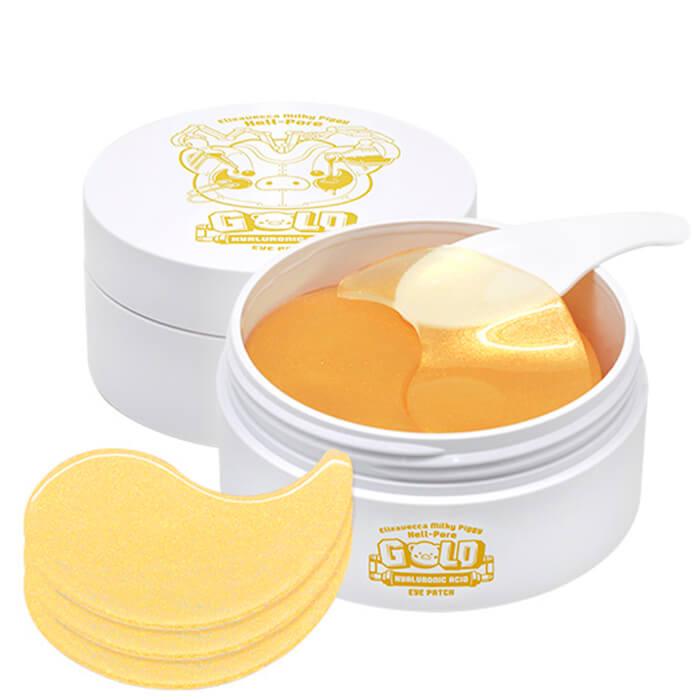 Купить Патчи для век Elizavecca Milky Piggy Hell Pore Gold Hyaluronic Acid Eye Patch, Увлажняющие гидрогелевые патчи для глаз с гиалуроновой кислотой, Южная Корея