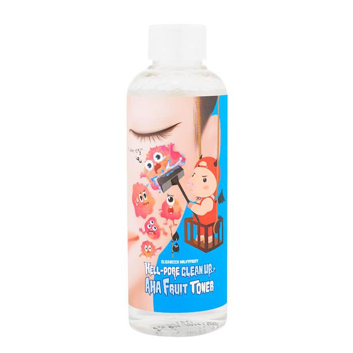 Купить Пилинг-тонер Elizavecca Hell-Pore Clean Up AHA Fruit Toner, Универсальный пилинг-тонер для лица с фруктовыми кислотами, Южная Корея