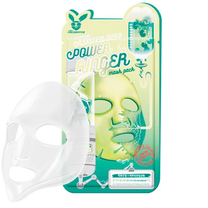 Купить Тканевая маска Elizavecca Centella Asiatica Deep Power Ringer Mask Pack, Стимулирующая тканевая маска для лица с экстрактом центеллы азиатской, Южная Корея