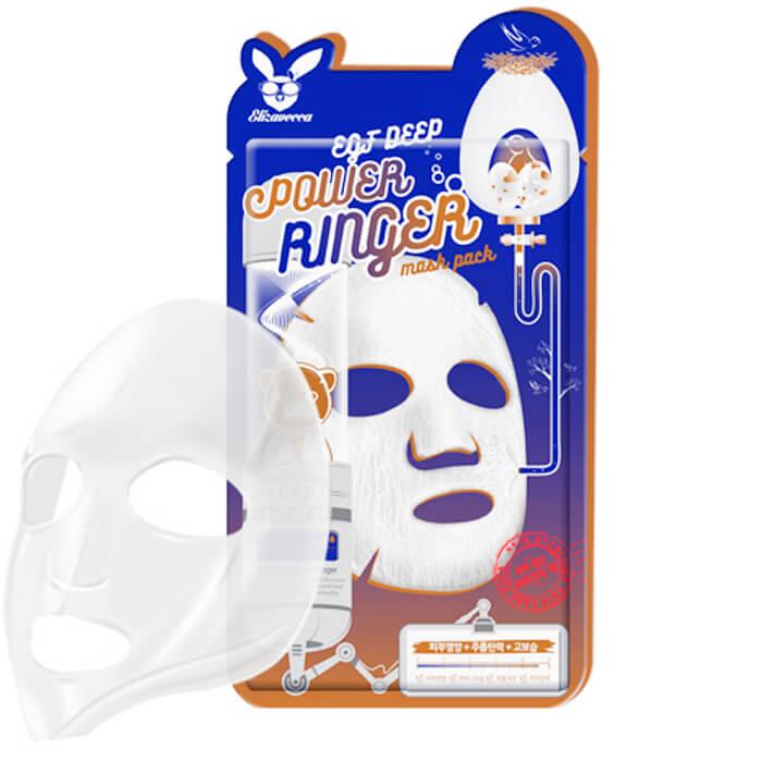 Купить Тканевая маска Elizavecca EGF Deep Power Ringer Mask Pack, Активная тканевая маска для лица с эпидермальным фактором роста EGF, Южная Корея