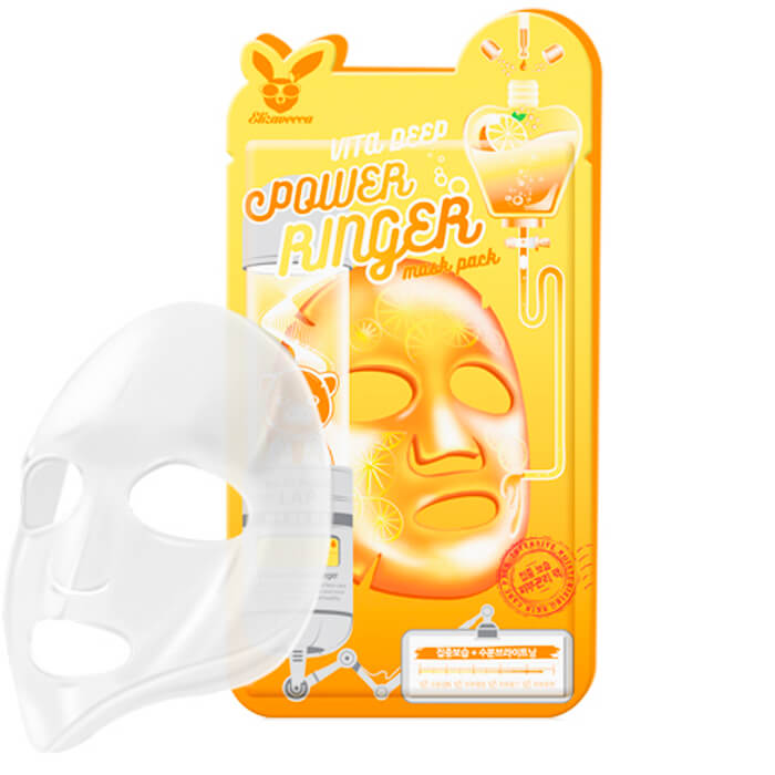 Купить Тканевая маска Elizavecca Vita Deep Power Ringer Mask Pack, Витаминизированная тканевая маска для повышения упругости лица, Южная Корея