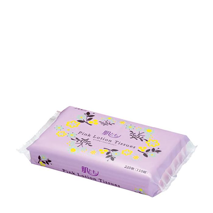 Купить Салфетки для лица Ellemoi Kami Shodji Pink (110 шт.), Бумажные розовые двухслойные салфетки с коэнзимом Q10 и экстрактом листьев черники, Япония
