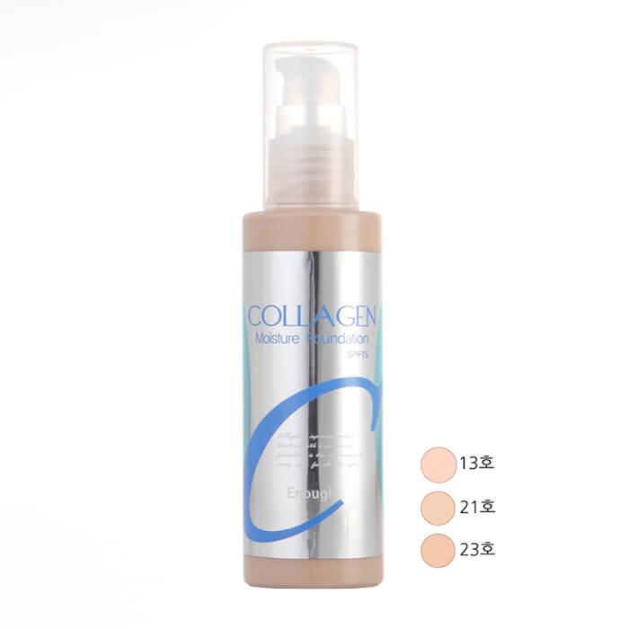тональная основа enough collagen moisture foundation