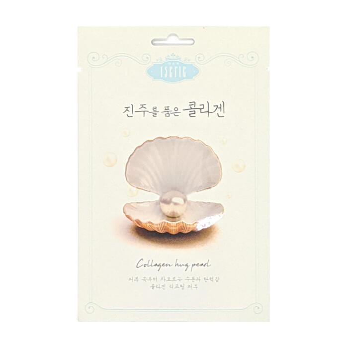 Купить Тканевая маска Entico Eserie Collagen Hug Pearl Mask Pack, Подтягивающая тканевая маска для кожи лица с коллагеном и экстрактом жемчуга, Южная Корея