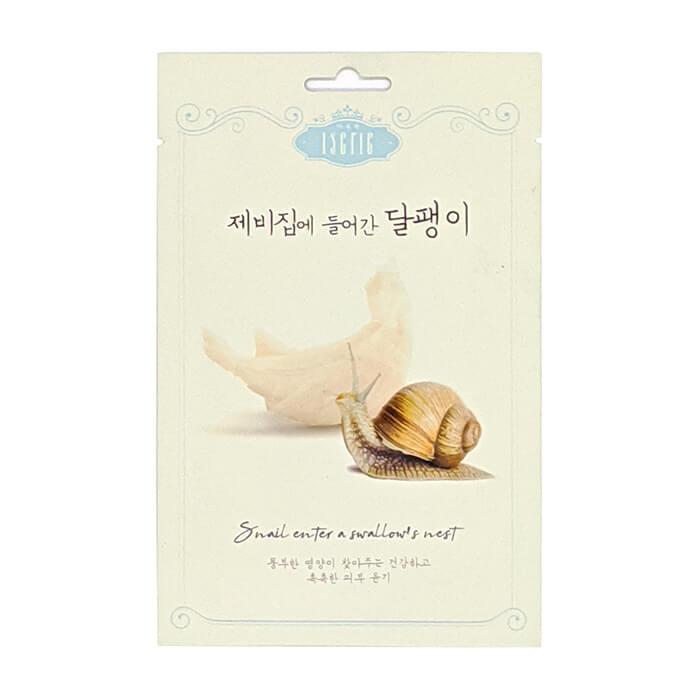 Купить Тканевая маска Entico Eserie Snail Enter A Swallow's Nest Mask Pack, Омолаживающая тканевая маска с экстрактом ласточкиного гнезда и муцином улитки, Южная Корея