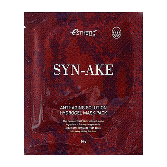 Гидрогелевая маска Esthetic House Syn-Ake Anti-Aging Solution Hydrogel Mask Pack Маска с ботокс-эффектом для разглаживания и уменьшения глубины морщин со змеиным пептидом фото