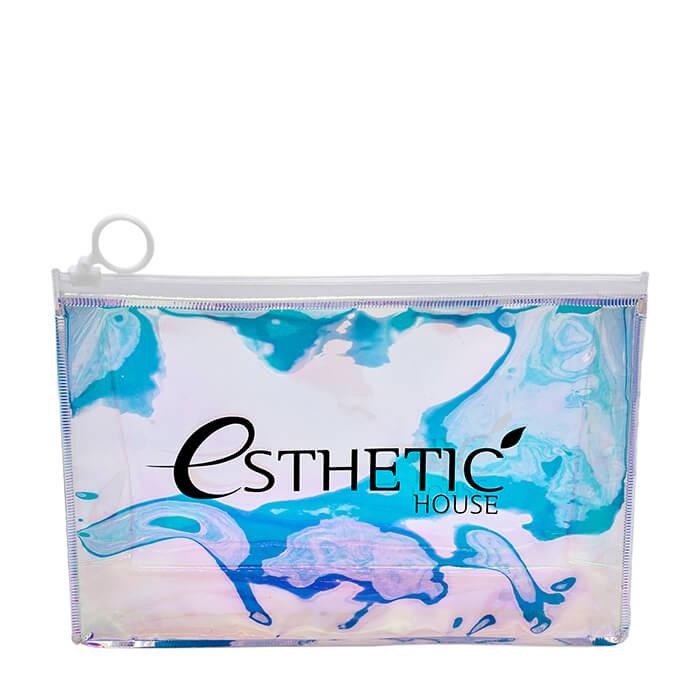 Купить Косметичка Esthetic House Holographic Cosmetic Bag, Прозрачная голографическая косметичка-хамелеон на молнии, Китай