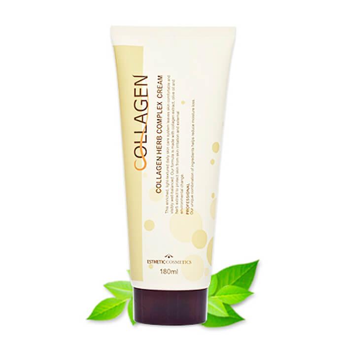 Купить Крем для лица Esthetic House Collagen Herb Complex Cream, Крем для лица с коллагеном и растительными экстрактами, Южная Корея