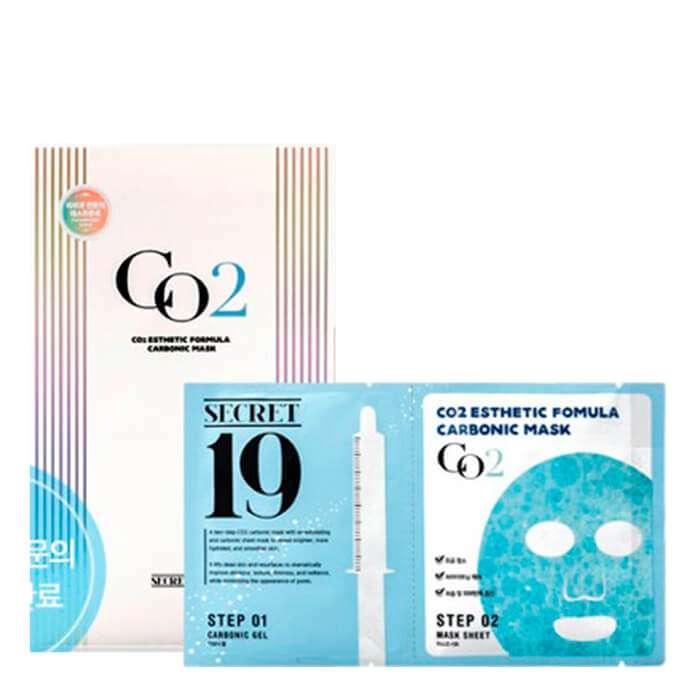 Купить Маска для карбокситерапии Esthetic House CO2 Esthetic Formular Carboxy Mask Sheet, Маска-активатор для домашней процедуры неинвазивной карбокситерапии, Южная Корея