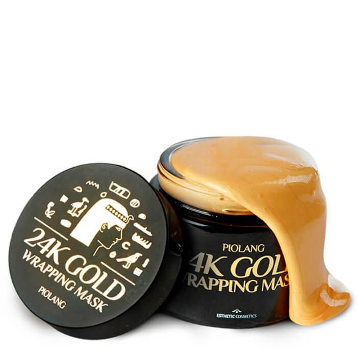Купить Золотая маска для лица Esthetic House Piolang 24K Gold Wrapping Mask, Обволакивающая маска-плёнка для лица с 24 каратным золотом, Южная Корея