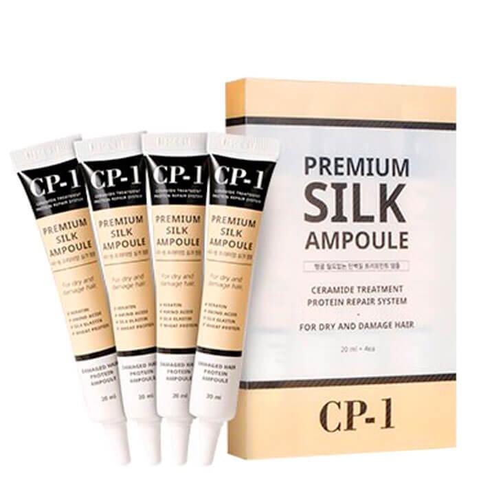 Купить Набор сывороток для волос Esthetic House CP-1 Premium Silk Ampoule Set, Набор несмываемых сывороток для волос с протеинами шёлка, Южная Корея