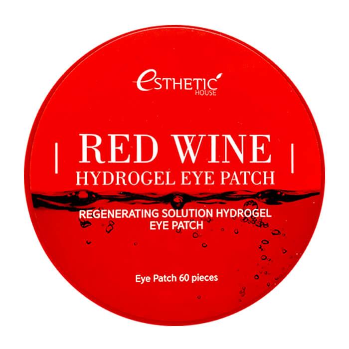 Купить Патчи для глаз Esthetic House Red Wine Hydrogel Eye Patch, Гидрогелевые патчи для век с экстрактом красного вина, Южная Корея
