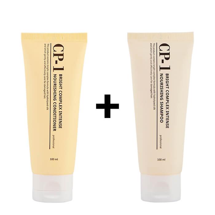 Купить Шампунь + Кондиционер для волос Esthetic House CP-1 Bright Complex Intense Nourishing Set (mini), Интенсивно питающий кондиционер и шампунь для волос с протеинами, Южная Корея