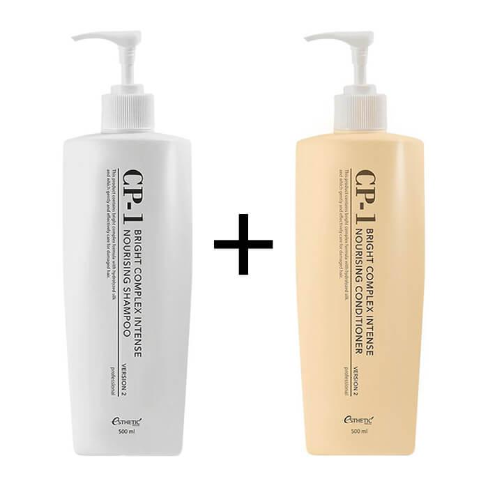 Купить Шампунь + Кондиционер для волос Esthetic House CP-1 Bright Complex Intense Nourishing Set v2.0, Интенсивно питающий кондиционер и шампунь для волос с протеинами, Южная Корея