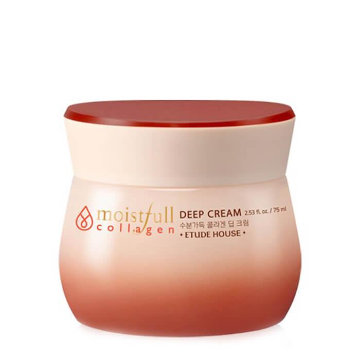 Купить Крем для лица Etude House Moistfull Super Collagen Deep Cream, Увлажняющий крем для глубоких слоёв кожи лица с коллагеном, Южная Корея