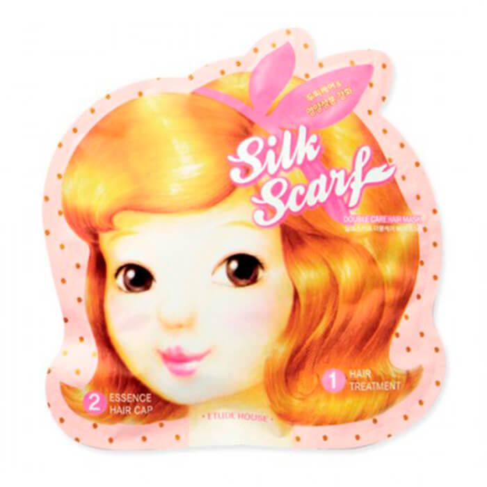 Купить Маска для волос Etude House Silk Scarf Double Hair Mask, Интенсивная питательная маска для придания блеска волосам, Южная Корея