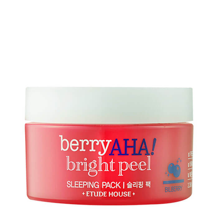 Купить Ночная маска Etude House Berry AHA Bright Peel Sleeping Pack, Ночная отшелушивающая маска для лица с AHA кислотами, Южная Корея