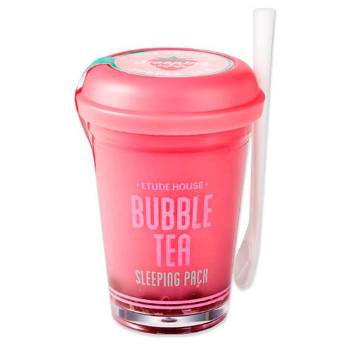 Купить со скидкой Ночная маска Etude House Bubble Tea Sleeping Pack - Strawberry
