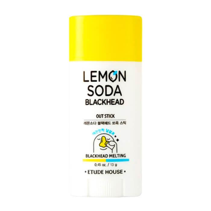 Купить Очищающий стик Etude House Lemon Soda Blackhead Out Stick, Выдвижной стик для очищения лица от чёрных точек, Южная Корея