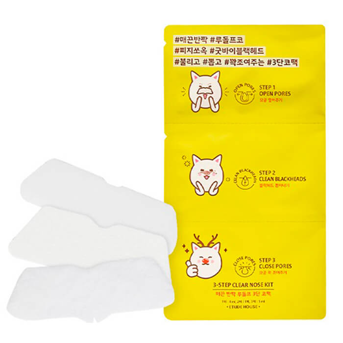 Патчи для носа Etude House 3-Step Clear Nose Kit