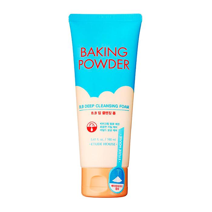 Купить Пенка для умывания Etude House Baking Powder BB Deep Cleansing Foam (160 мл), Глубоко очищающая пенка с содой для снятия макияжа и ВВ крема, Южная Корея
