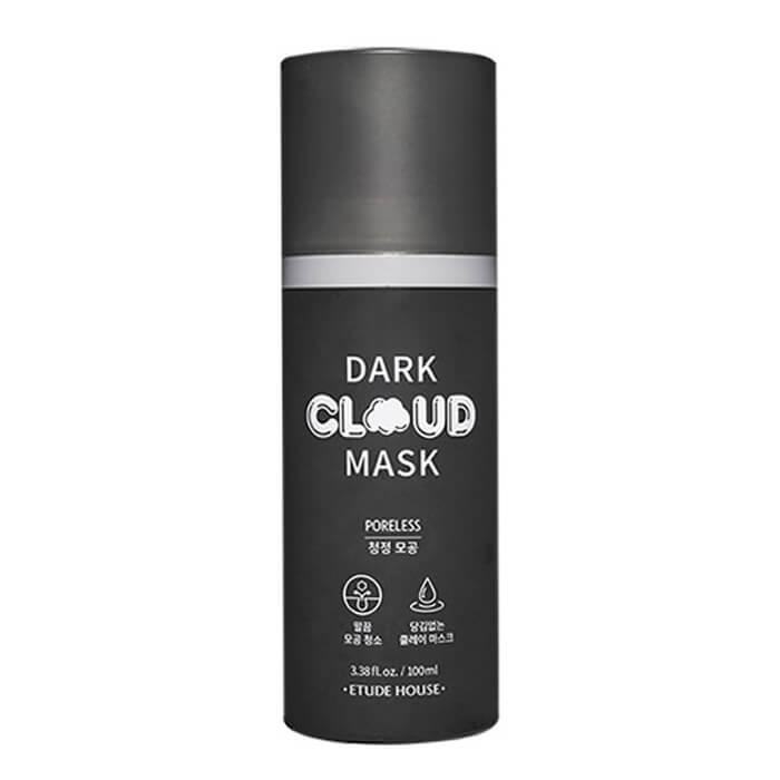 Купить Пузырьковая маска Etude House Dark Cloud Mask Poreless, Воздушная пузырьковая маска для сужения пор на лице, Южная Корея
