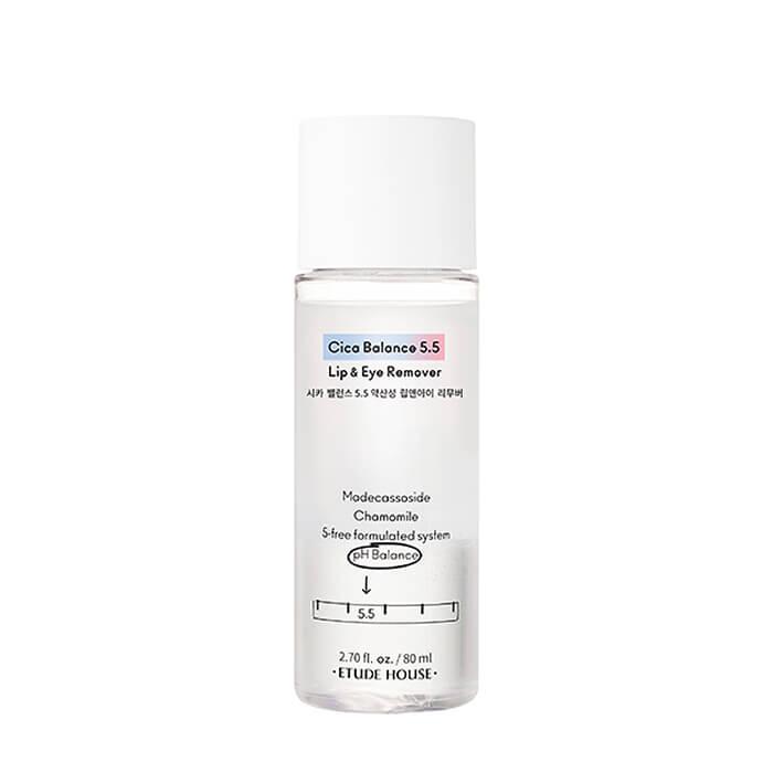 Купить Средство для снятия макияжа Etude House Cica Balance 5.5 Lip & Eye Remover, Слабокислотное двухфазное средство для очищения губ и глаз, Южная Корея