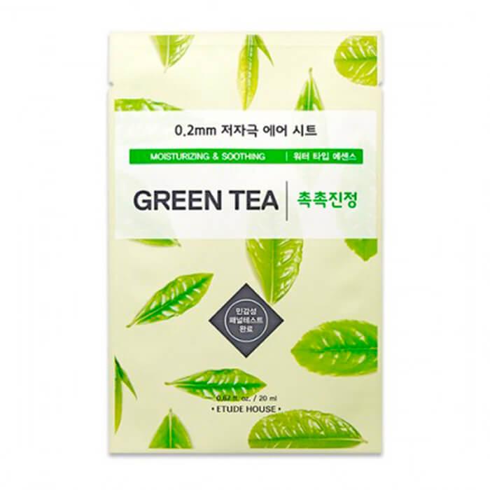 Купить Тканевая маска Etude House 0.2 Therapy Air Mask Green Tea, Увлажняющая тканевая маска для лица с экстрактом зелёного чая, Южная Корея