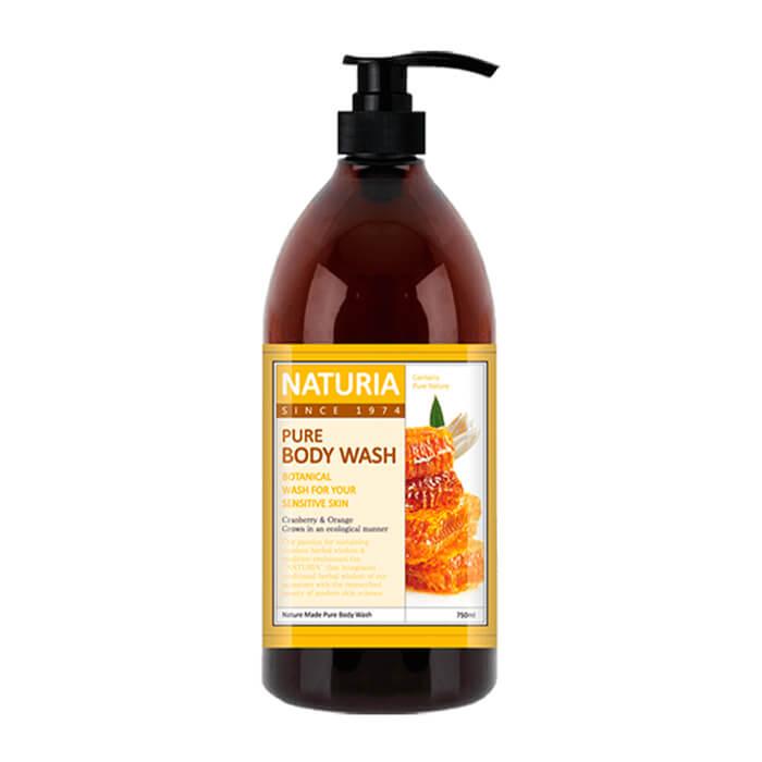 Купить Гель для душа Evas Naturia Pure Body Wash Honey & White Lily (750 мл), Увлажняющий гель для душа с романтическим ароматом лилии, нектарина и меда, Южная Корея
