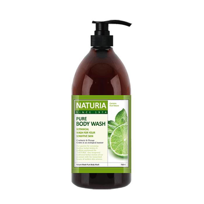 Гель для душа Evas Naturia Pure Body Wash Wild Mint & Lime (750 мл) Увлажняющий гель для душа с освежающим ароматом мяты, эвкалипта и лайма фото