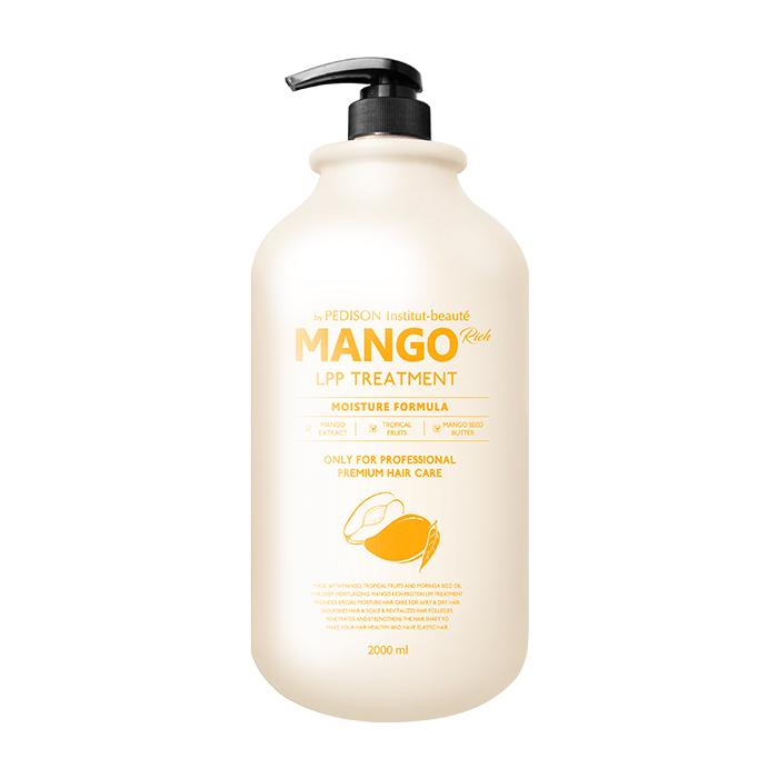 Купить Маска для волос Evas Pedison Institut-Beaute Mango Rich LPP Treatment (2л), Кондиционер для глубокого питания и увлажнения сухих и обезвоженных волос с маслом манго, Южная Корея
