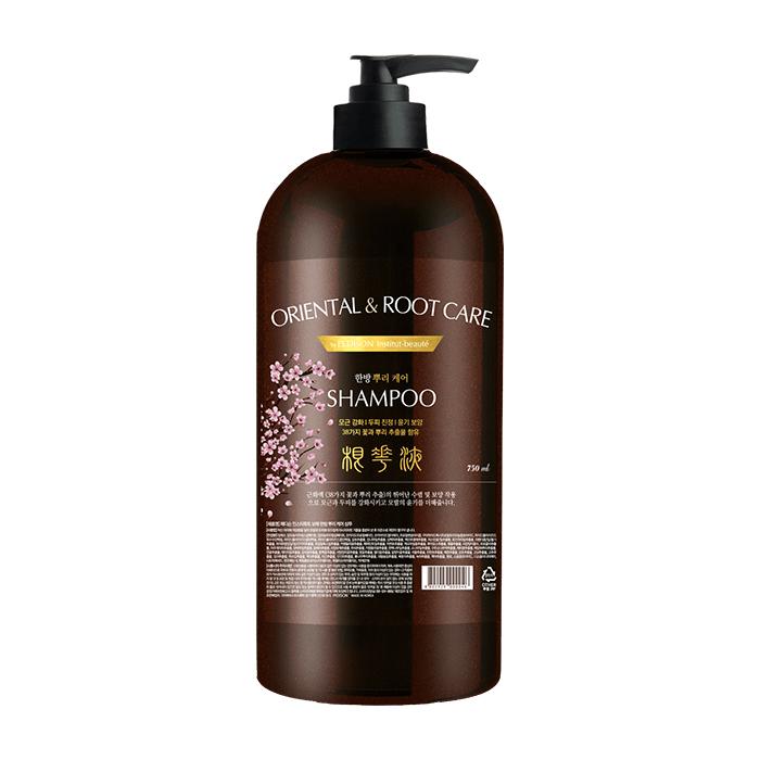 Купить Шампунь для волос Evas Pedison Institut-Beaute Oriental Root Care Shampoo (750 мл), Шампунь с комплексом лекарственных растений для оздоровления кожи головы и волос, Южная Корея