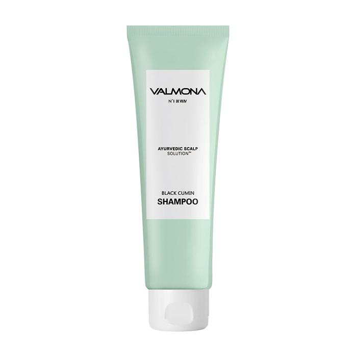 Купить Шампунь для волос Evas Valmona Ayurvedic Scalp Solution Black Cumin Shampoo (100 мл), Аюрведический шампунь для оздоровления кожи головы и профилактики выпадения волос, Южная Корея