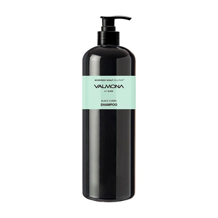 Купить Шампунь для волос Evas Valmona Ayurvedic Scalp Solution Black Cumin Shampoo (480 мл), Аюрведический шампунь для кожи головы и профилактики выпадения волос, Южная Корея