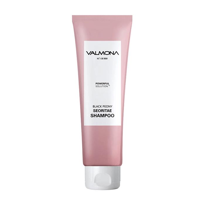 Купить Шампунь для волос Evas Valmona Powerful Solution Black Peony Seoritae Shampoo (100 мл), Шампунь для укрепления и предотвращения выпадения волос с экстрактом черных бобов, Южная Корея