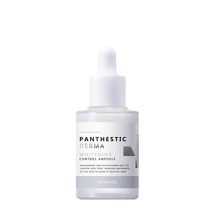 Купить Сыворотка для лица Evas Withme Panthestic Derma Whitening Control Ampoule, Осветляющая сыворотка для интенсивного увлажнения, смягчения и питания кожи, Южная Корея