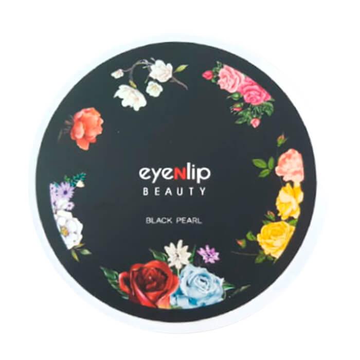 Купить Гидрогелевые патчи Eyenlip Black Pearl Hydrogel Eye Patch, Гидрогелевые патчи для глаз с экстрактом чёрного жемчуга, Южная Корея