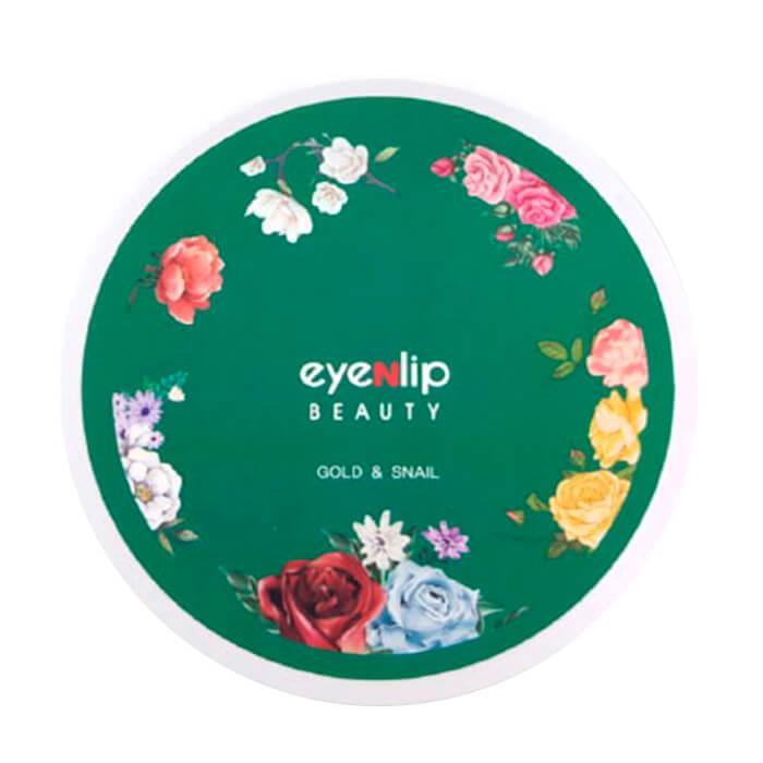 Купить Гидрогелевые патчи Eyenlip Gold & Snail Hydrogel Eye Patch, Гидрогелевые патчи для глаз с экстрактом золота и муцина улитки, Южная Корея