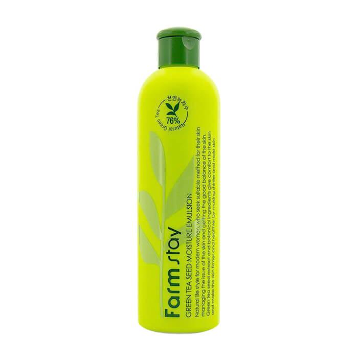 Купить Эмульсия для лица FarmStay Green Tea Seed Moisture Emulsion, Увлажняющая эмульсия для лица с экстрактом семян зеленого чая, Южная Корея