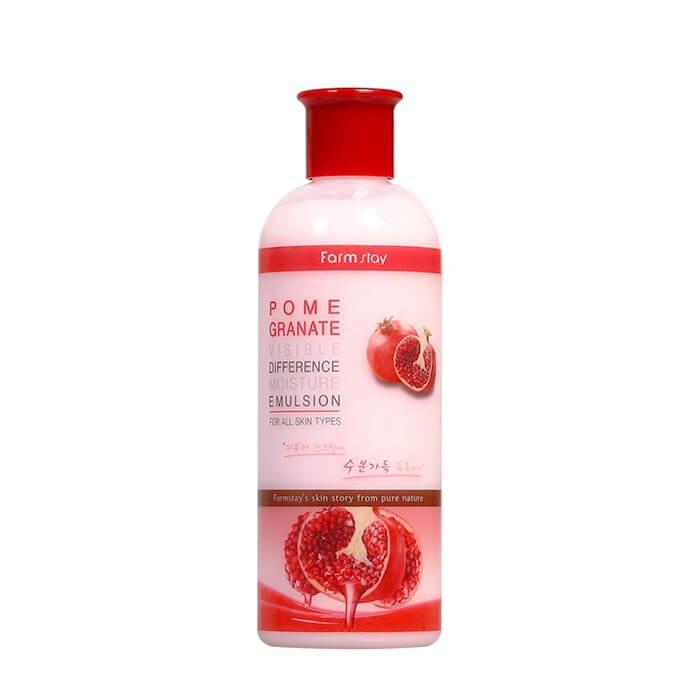 Купить Эмульсия для лица FarmStay Pomegranate Visible Difference Moisture Emulsion, Антивозрастная эмульсия для повышения упругости лица с экстрактом граната, Южная Корея