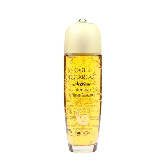 Купить Эссенция для лица FarmStay Gold Escargot Noblesse Intensive Lifting Essence, Интенсивно восстанавливающая эссенция для лица с муцином королевской улитки, Южная Корея