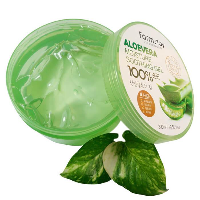 Гель с алоэ FarmStay Moisture Soothing Gel Aloevera 100% Многофункциональный гель для тела с экстрактом алоэ