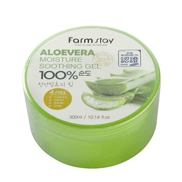 Купить Гель с алоэ FarmStay Moisture Soothing Gel Aloevera 100%, Многофункциональный гель для тела с экстрактом алоэ, Южная Корея
