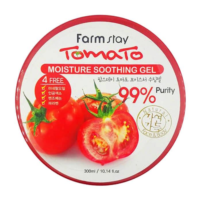 Гель с томатом FarmStay Tomato Moisture Soothing Gel Многофункциональный гель для тела с экстрактом томата