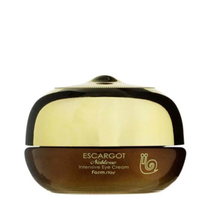 Купить Крем для глаз FarmStay Escargot Noblesse Intensive Eye Cream, Восстанавливающий крем для глаз с экстрактом королевской улитки, Южная Корея
