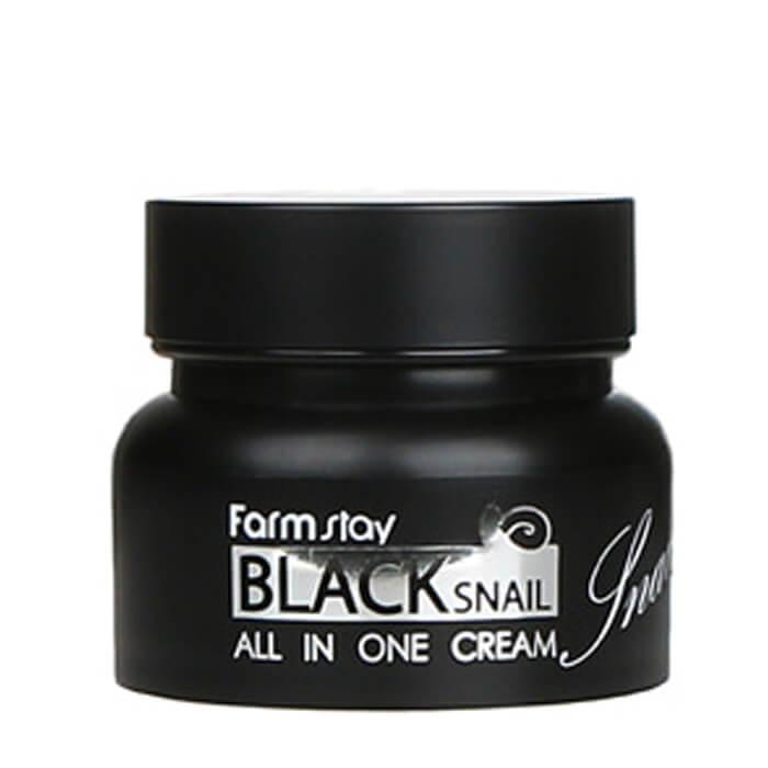 Купить Крем для лица FarmStay Black Snail All In One Cream, Высококонцентрированный крем для лица с муцином черной улитки, Южная Корея