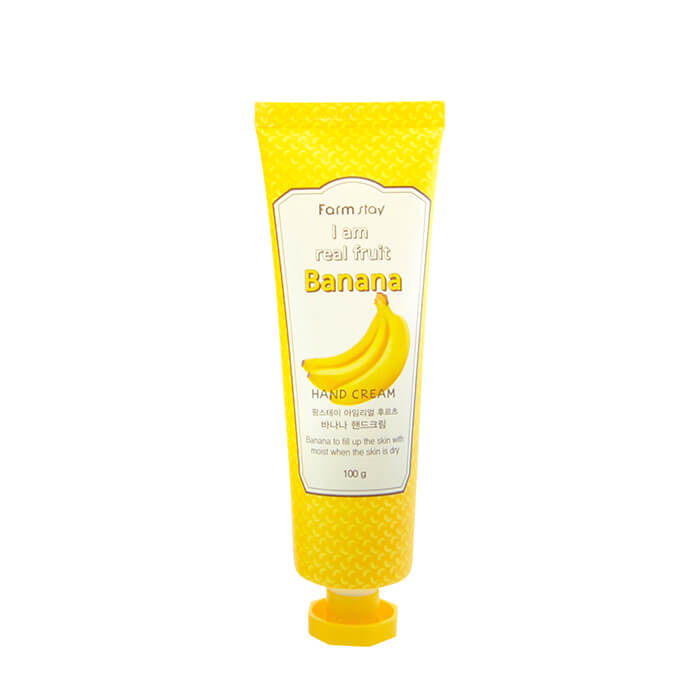 Купить Крем для рук FarmStay I Am Real Fruit Banana Hand Cream, Увлажняющий и питательный крем для рук с экстрактом банана, Южная Корея